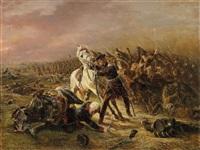 blüchers rettung durch seinen adjudanten nostiz bei quatre-bras by otto clemens fikentscher