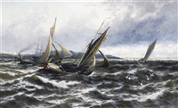 wind and sea rising (off the isle of sheppey) by thomas rose miles