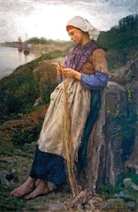 die netzflickerin by jules breton