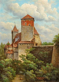 kaiserburg nürnberg by georg rall