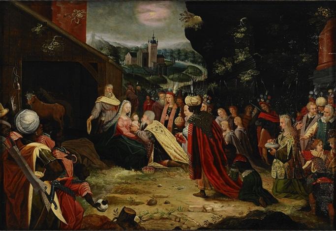 konungarnas tillbedjan by louis de caullery