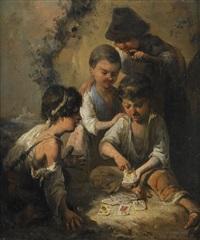 kortspelande barn by manuel rodriguez de guzman