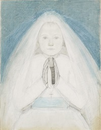 young girl's communion by wally (walburga wilhelmina) moes