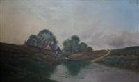 mill pond nr. ripley, surrey by edwin henry boddington