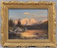 hintersee und hoher göll im alpenglühen by adalbert waagen