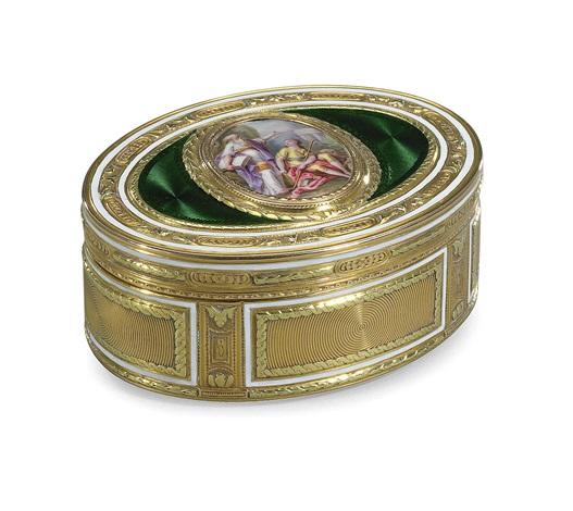 box, 18 k gold deux couleurs