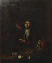 oyster stall by egbert lievensz van der poel