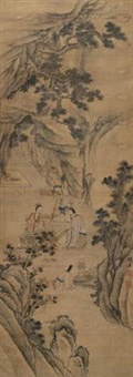 弈棋图 by chen zhuo
