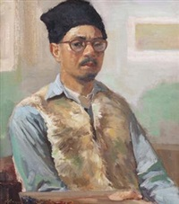 自画像 (self-portrait) by ai zhongxin