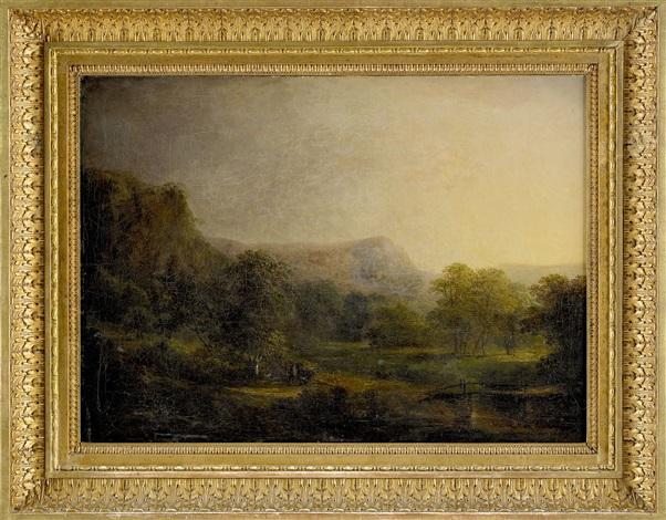 pastoralt landskap från fituna by carl johan fahlcrantz