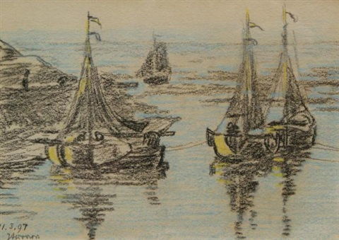 three boats by jan toorop