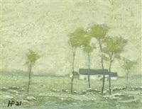 landschaft mit gehöft und bäumen by holmead (clifford holmead phillips)