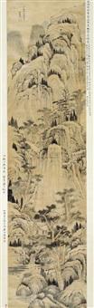 秋空叠嶂图 (landscape) by xiao yuncong