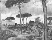 mediterrane landschaft by vincenzo colucci