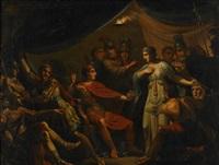 alexander låter afvisa och bortföra spitamenis gemål, som tillfört honom sin mans hufvud, dem hon lönnmördat by gustav erik hasselgren