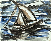 segelboot by holmead (clifford holmead phillips)
