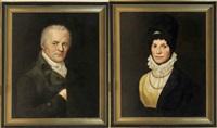 portrait eines herrschaftlichen biedermeier - paares (pair) by gotthelf leberecht glaeser