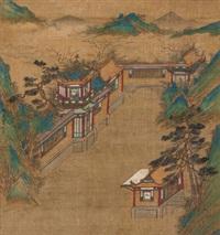 清夏图 立轴 绢本 by qiu ying