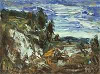 rocky landscape norway by holmead (clifford holmead phillips)