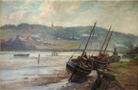 whitby, low tide by william ashton