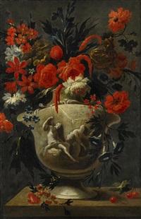 blomsterstilleben by karel van vogelaer