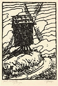 windmühle bei brügge by holmead (clifford holmead phillips)