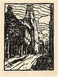 clock street. dinan by holmead (clifford holmead phillips)
