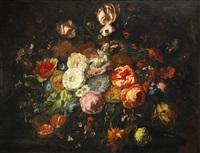 stilleben med blommor by agnes aggerup