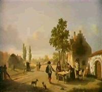 markttag in einer hollandisch-en kleinstadt. by lambertus lingeman