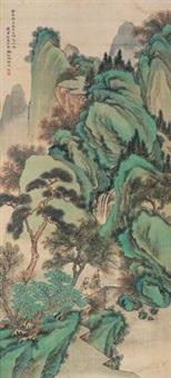 抱琴访友图 (landscape) by bai zongwei