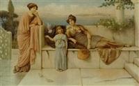 romerinder på en terrasse ved middelhavet by alfred c. weatherstone