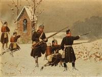 preußische infanterie im winterfeldzug 1870 by christian sell