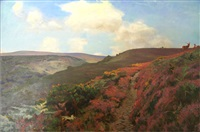 dunkery beacon, from lady acland's path (exmoor) by arthur wardle