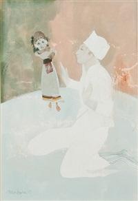 pierrot, nepalese puppet by brenda lenaghan