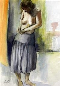 woman dressing by douglas portway