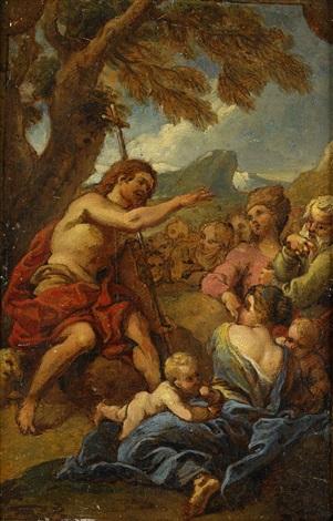 johannes döparens predikan by charles de la fosse