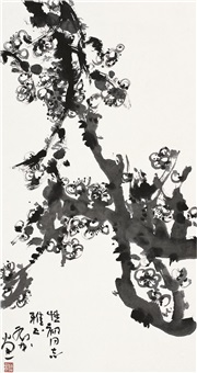 墨梅图 (ink plum blossom) by deng lin