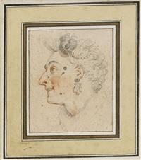 studie av ansikte i profil by charles-antoine coypel