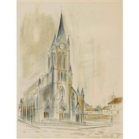 église by maurice utrillo