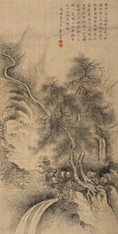 松声泉韵 立轴 绢本 by zhang zongcang