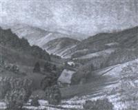 schwarzwaldhöhe mit zwei bauernhäusern bei menzenschwand by rudi müllers