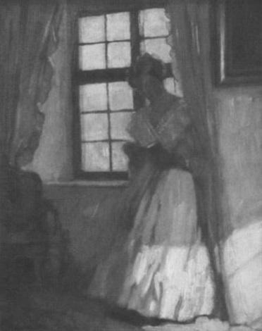 Fenster Paul lesendes mädchen am fenster by paul segisser on artnet