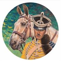 offizier mit pferd by hugo ungewitter