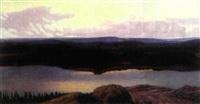 värmländskt landskap i aftonljus by hilding werner