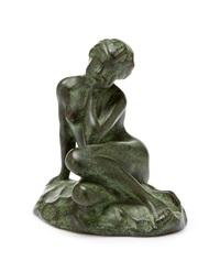 sittande naken flicka by gusten lindberg
