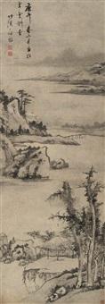 湖光山色图 (landscape) by luo mu (lo mou)