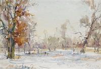 winter landscape by nicolas gloutchenko