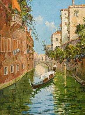 venezianischer gondoliere by cesare vianello
