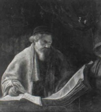 a scholar in an interior by karel van der pluym