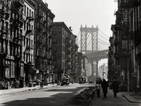 pike and henry street new york by berenice abbott